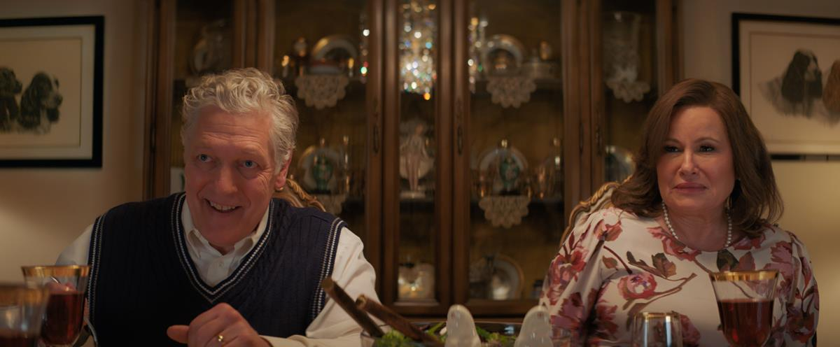Clancy Brown (left) stars as Stanley and Jennifer Coolidge (right) stars as Susan in director Emerald Fennell's PROMISING YOUNG WOMAN, a Focus Features release. Cr: Focus Features