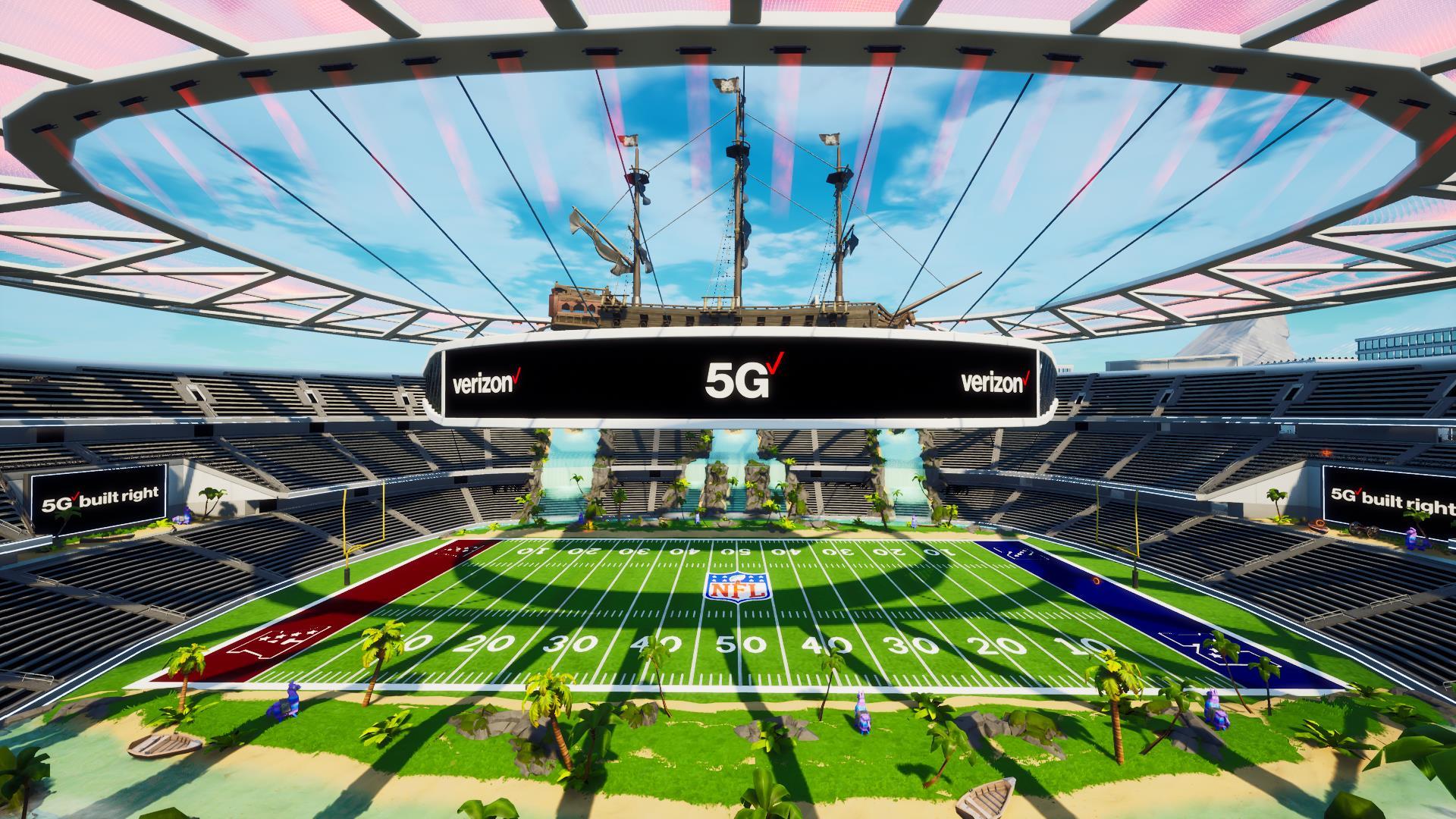 Verizon 5G Stadium in Fortnite Creative.