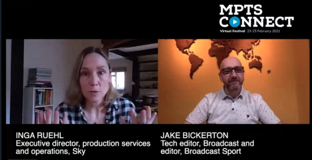 Inga Ruehl and Jake Bickerton in conversation at MPTS Connect Virtual Festival.