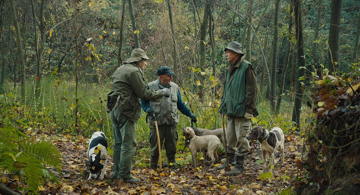 Fiona with Sergio Cauda in THE TRUFFLE HUNTERS. Cr: Michael Dweck and Gregory Kershaw/ Sony Pictures Classics