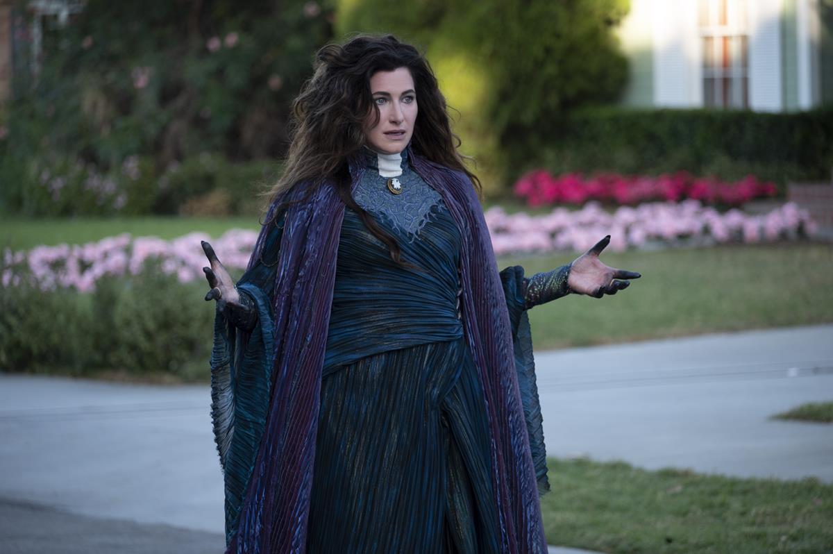 """Kathryn Hahn as Agatha Harkness in """"WandaVision."""" Cr: Marvel Studios"""