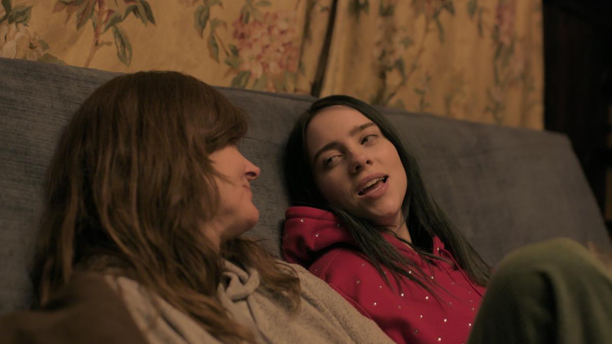 "Billie Eilish and her mother, Maggie Baird, in ""Billie Eilish: The World's A Little Blurry."" Cr: Apple TV+"