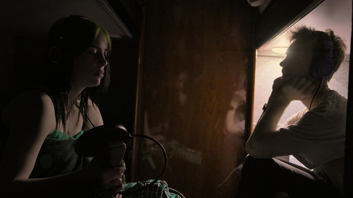 "Billie Eilish and Finneas O'Connell in ""Billie Eilish: The World's A Little Blurry."" Cr: Apple TV+"