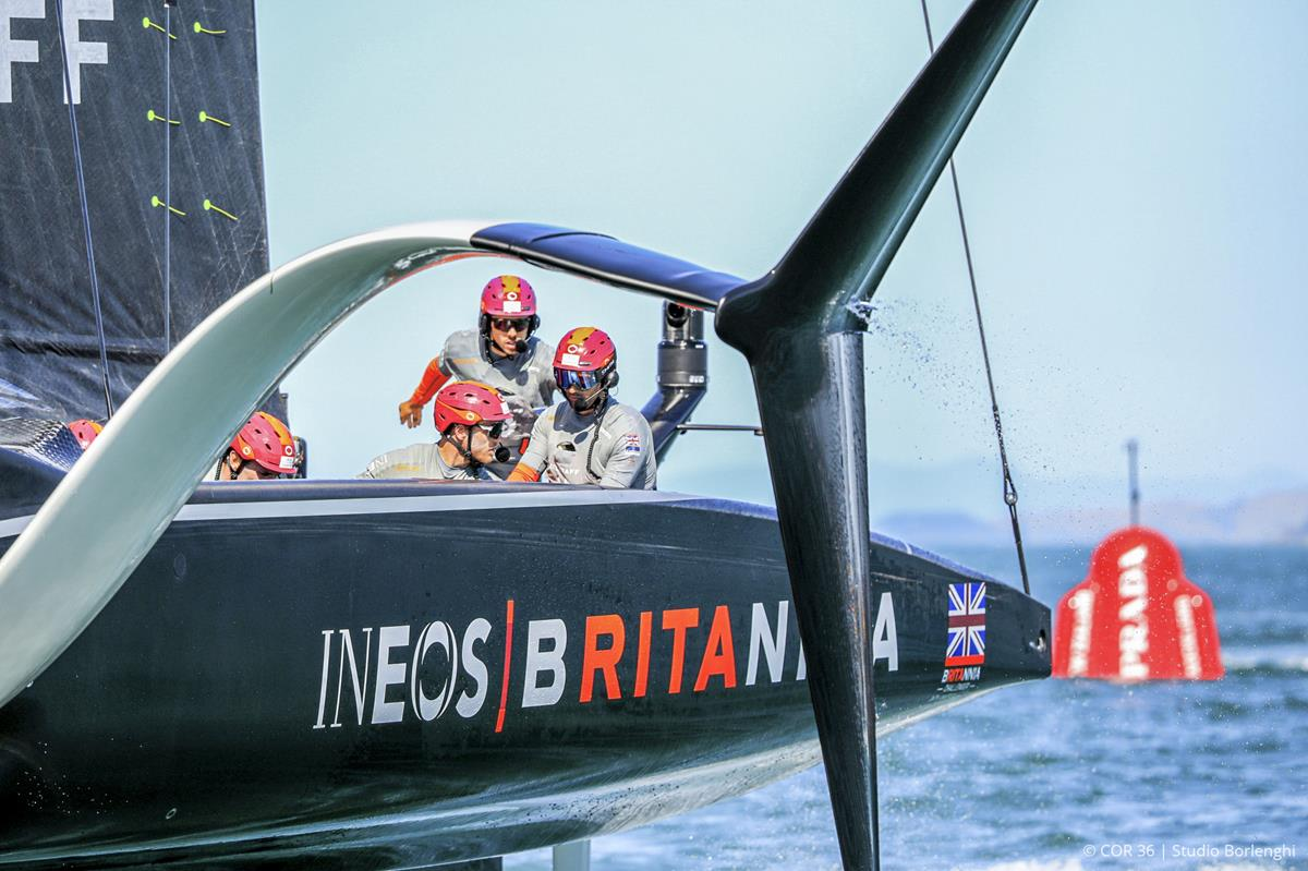Ineos Britannia, the challenger beaten by Luna Rossa in the Prada Cup series to find which yacht could meet New Zealand in the final.