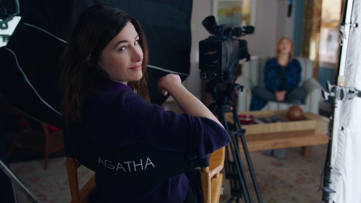 "(L-R): Kathryn Hahn as Agatha Harkness and Elizabeth Olsen as Wanda Maximoff in ""WandaVision."" Cr: Marvel Studios"