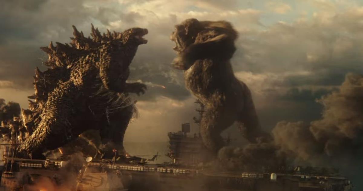 """Godzilla vs. Kong"" directed by Adam Wingard. Cr: Warner Bros."