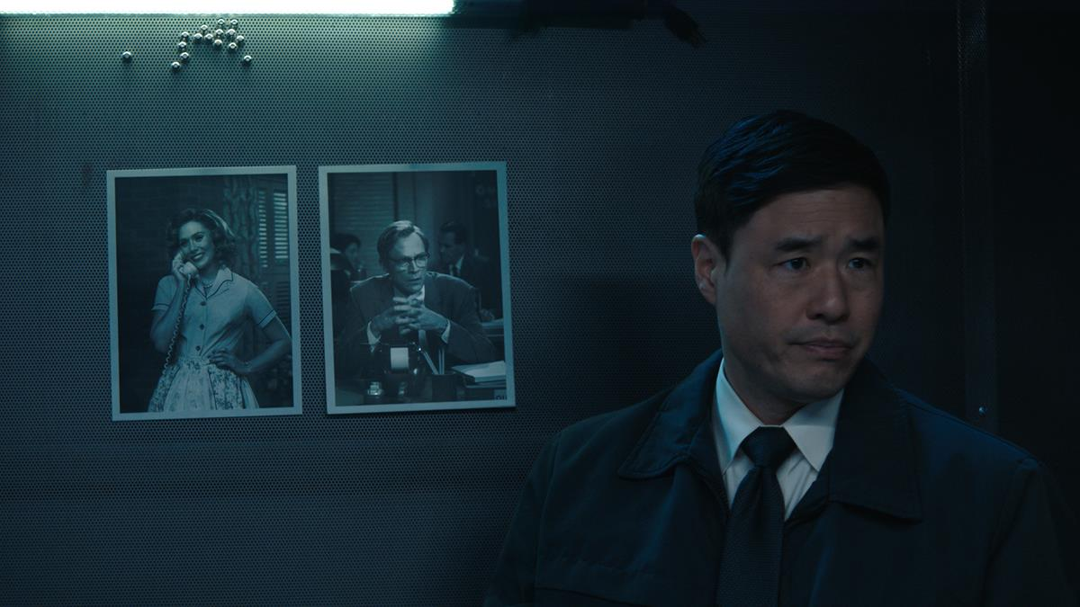 "Randall Park as Jimmy Woo in ""WandaVision."" Cr: Marvel Studios"