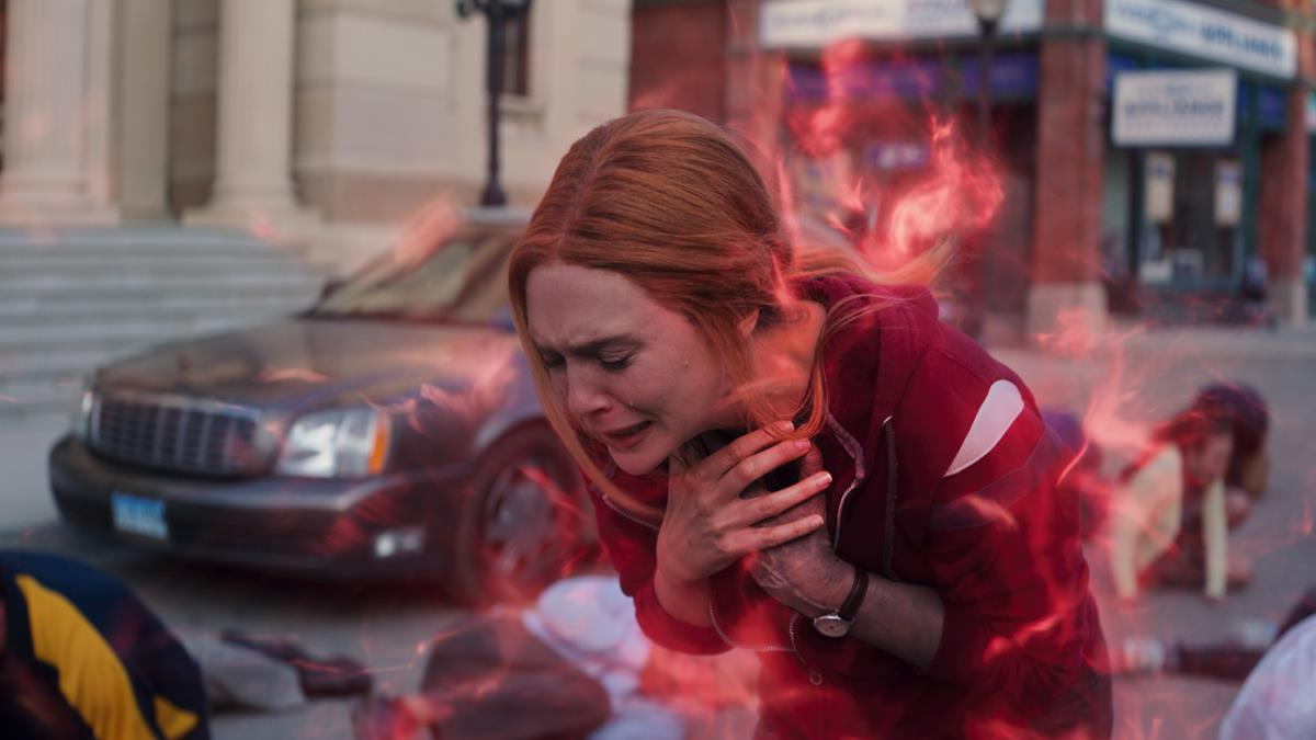 "Elizabeth Olsen as Wanda Maximoff in ""WandaVision."" Cr: Marvel Studios"