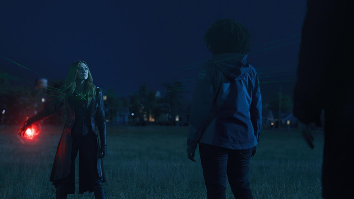 "(L-R): Elizabeth Olsen as Wanda Maximoff and Teyonah Parris as Monica Rambeau in ""WandaVision."" Cr: Marvel Studios"