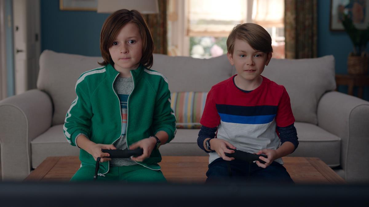 """(L-R): Jett Klyne as Tommy, Julian Hilliard as Billy in """"WandaVision."""" Cr: Marvel Studios"""