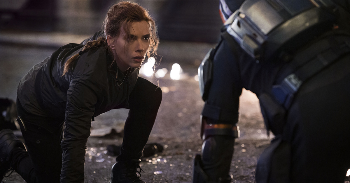 "Scarlett Johansson as Black Widow/Natasha Romanoff in Marvel Studios' ""Black Widow,"" available as a premium rental for Disney+ members, alongside its theatrical release. Photo by Jay Maidment. ©Marvel Studios 2020. All Rights Reserved."
