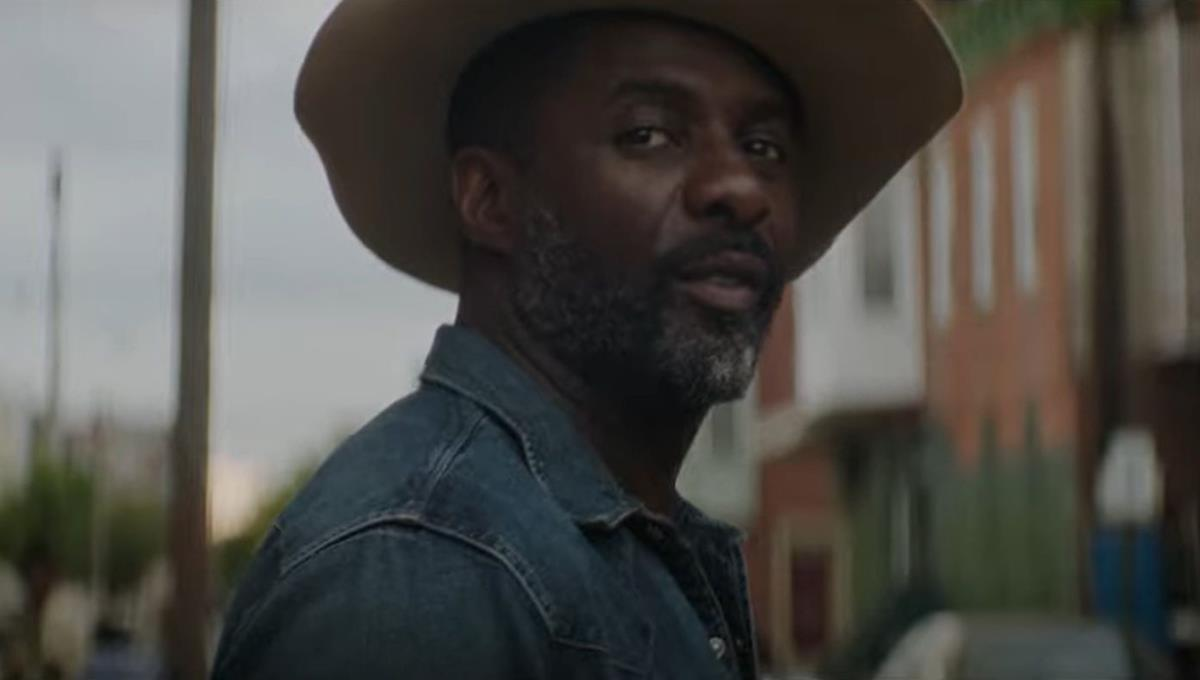 "Idris Elba and Caleb McLaughlin in ""Concrete Cowboy."" Cr: Netflix"