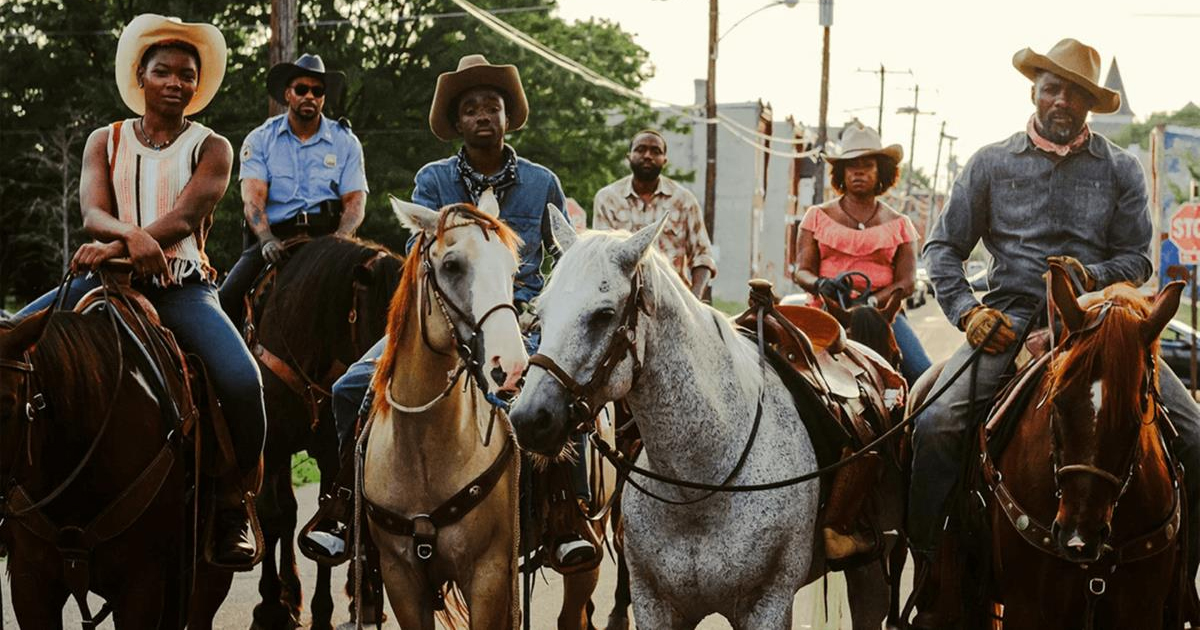 "Idris Elba in ""Concrete Cowboy."" Cr: Netflix"