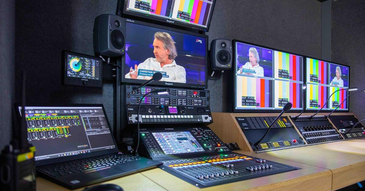 NEP Germany's pod container solution serves as a mobile production studio. Cr: NEP Germany