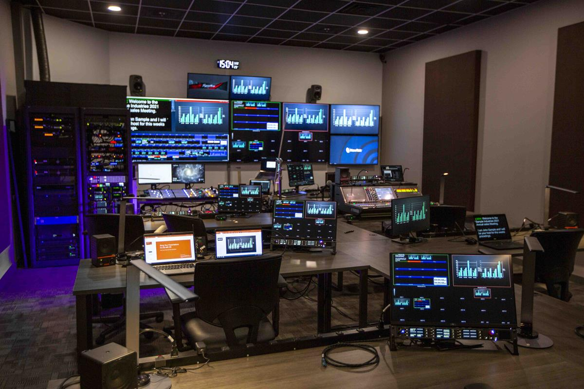 Signature Production Group control room.