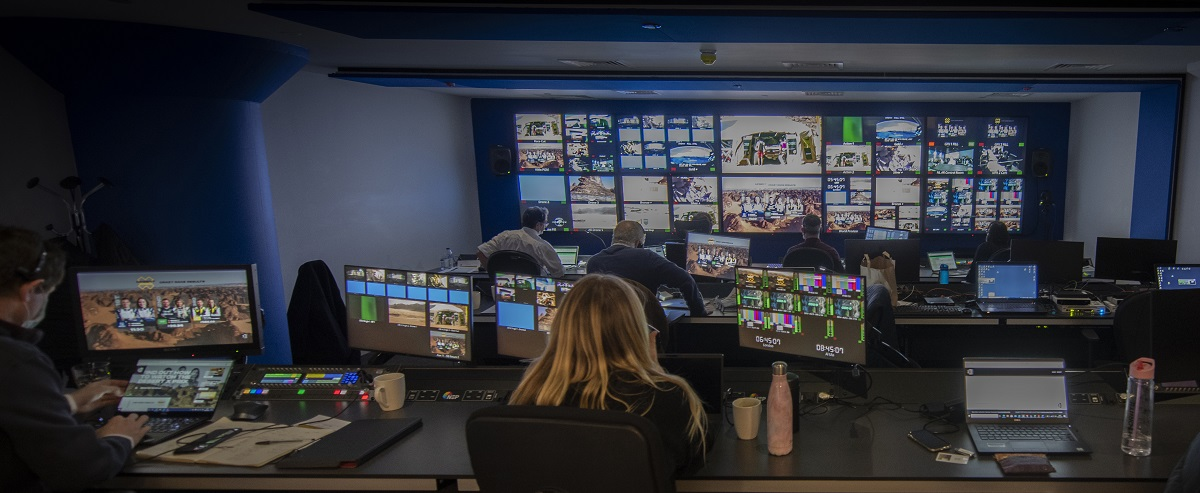 Inside the NEP Production Center in London during Extreme E2. Cr: Extreme E