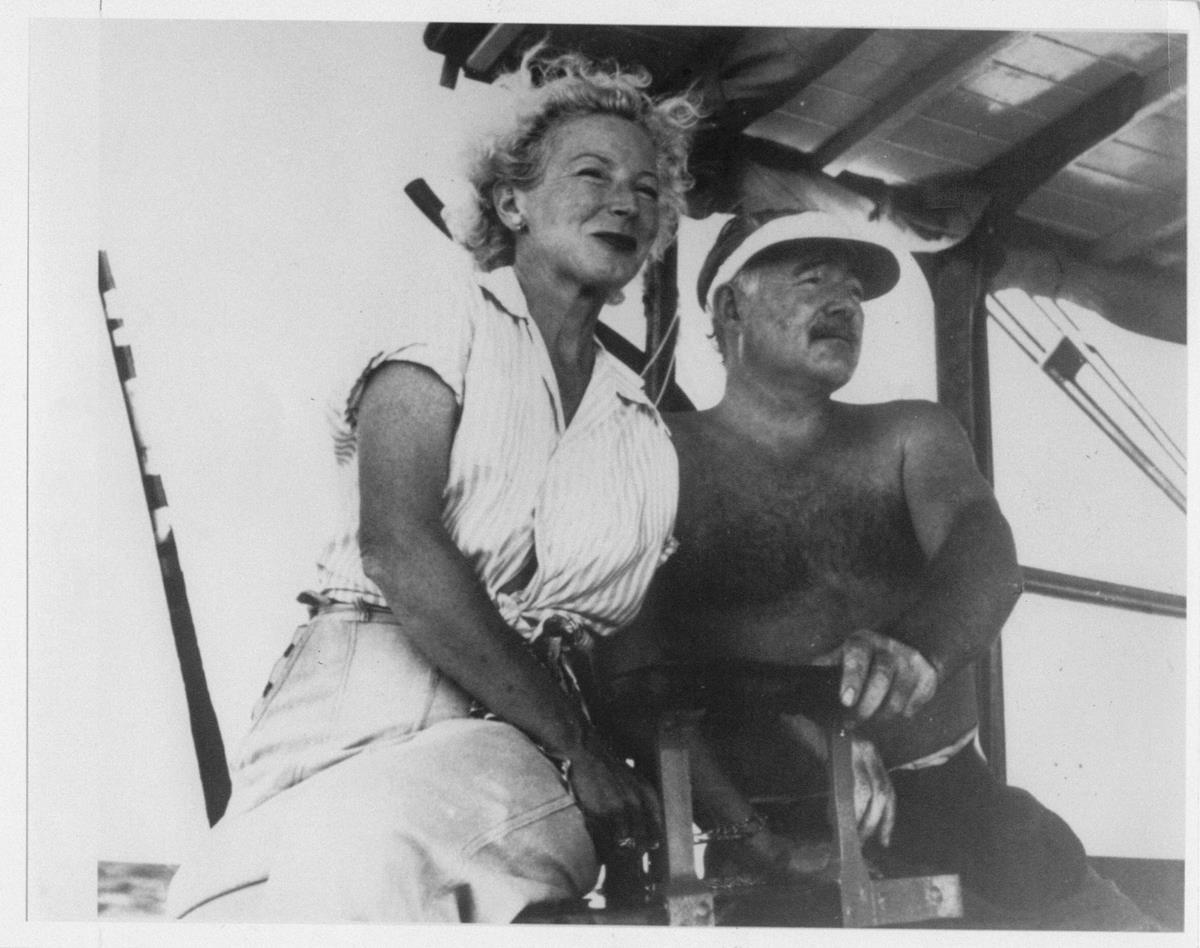 Ernest Hemingway with Mary Welsh. Cr: A.E. Hotchner