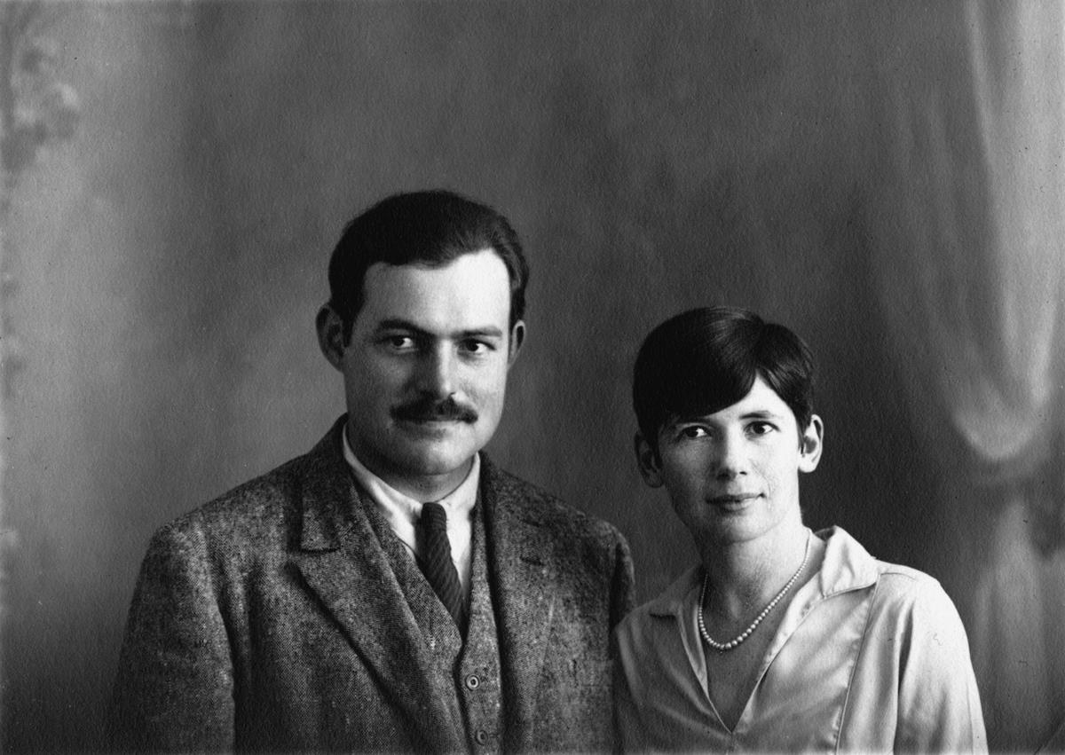 Ernest Hemingway and with his second wife, Pauline Pfeiffer. Photo taken on their wedding day. Paris, France, May 10, 1927. Cr: Ernest Hemingway Collection. John F. Kennedy Presidential Library and Museum, Boston