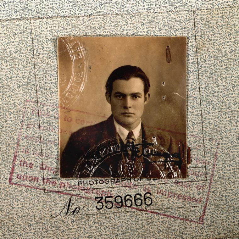 Ernest Hemingway 1923 passport. Cr: Ernest Hemingway Collection. John F. Kennedy Presidential Library and Museum, Boston