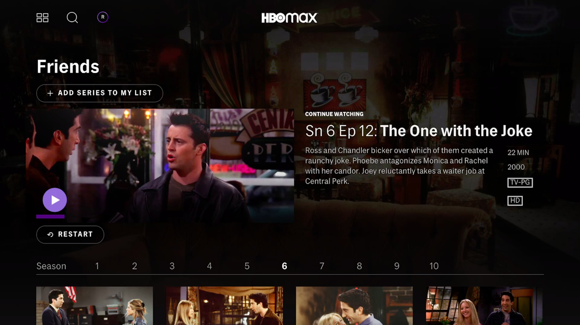 """""""Friends"""" on HBO Max"""