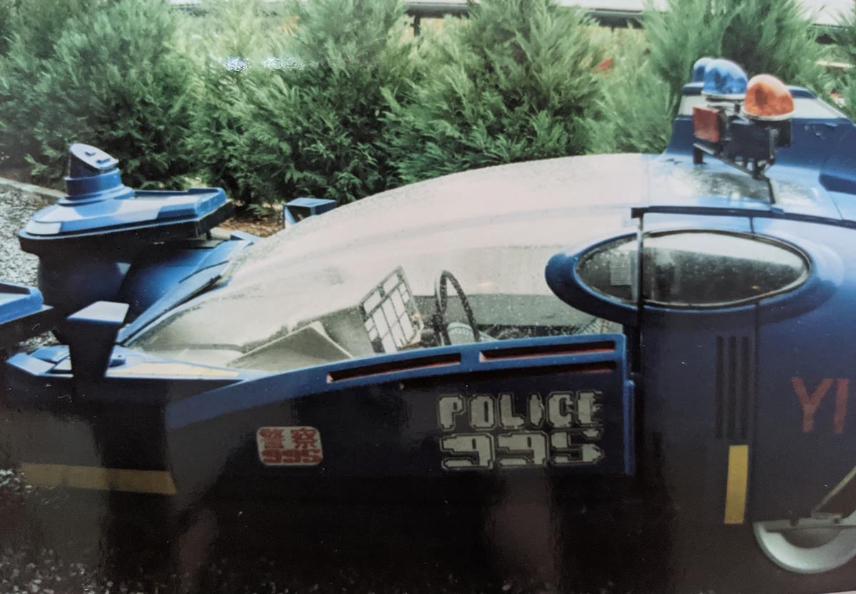 Deckard's cop cruiser on display at Universal Studios Orlando in 1989. Cr: Adrian Pennington