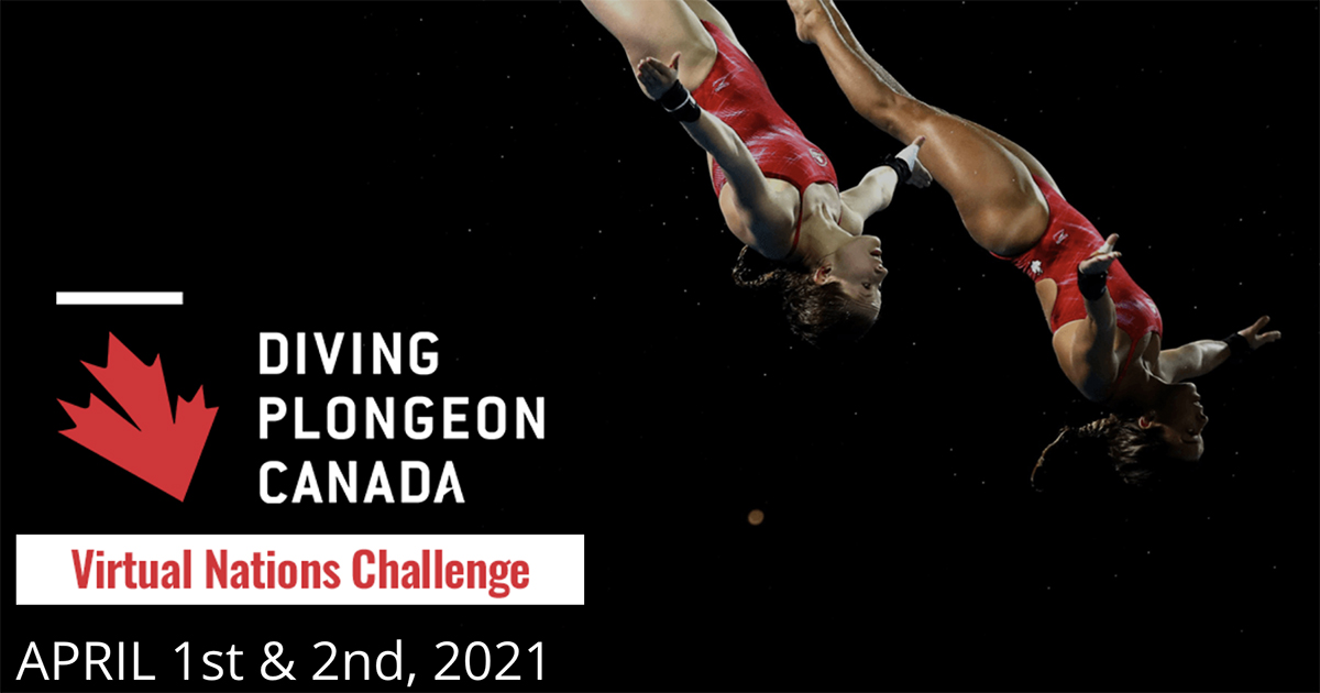 The Virtual Nations Challenge, held April 1-2, was Diving Plongeon Canada's first web-based competition allowing international athletes to compete against each other in real-time.