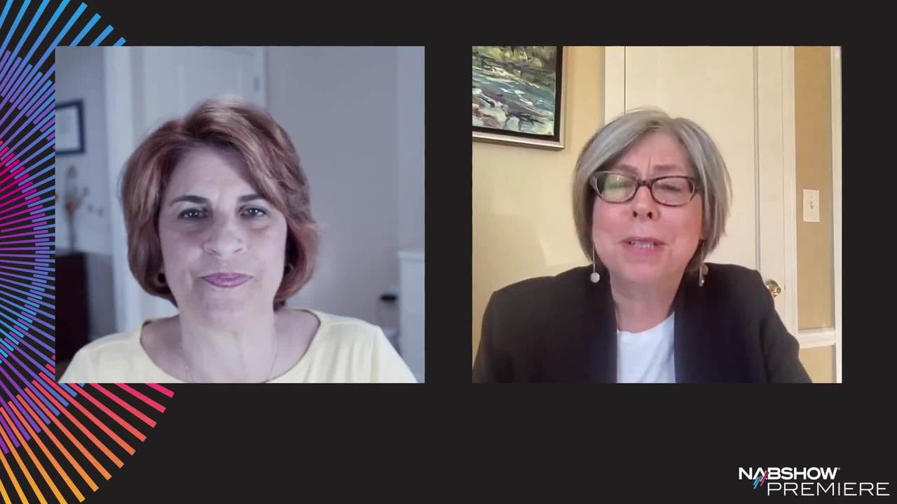 """Streaming media consultant Peggy Dau in conversation with director/producer Amy DeLouise in a special Executive Leadership Series session, """"I Want it All – Streaming, Pay TV and the Future of Story Delivery."""""""
