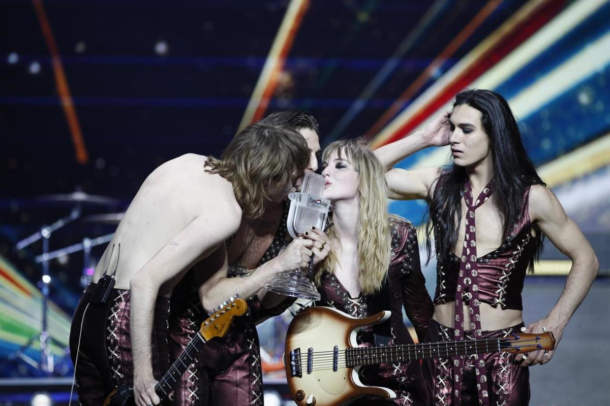 Måneskin won the Eurovision Song Contest 2021 for Italy. Cr: Jordy Brada