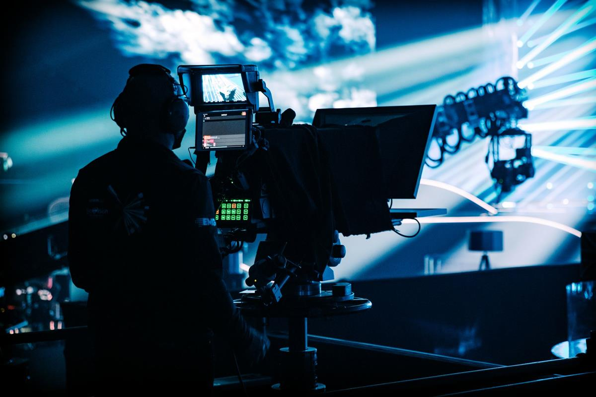 One element of the camera fire power on stage for Eurovision 2021. Cr: EMG