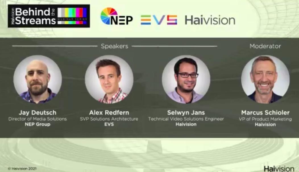 screenshot of virtual panel participants