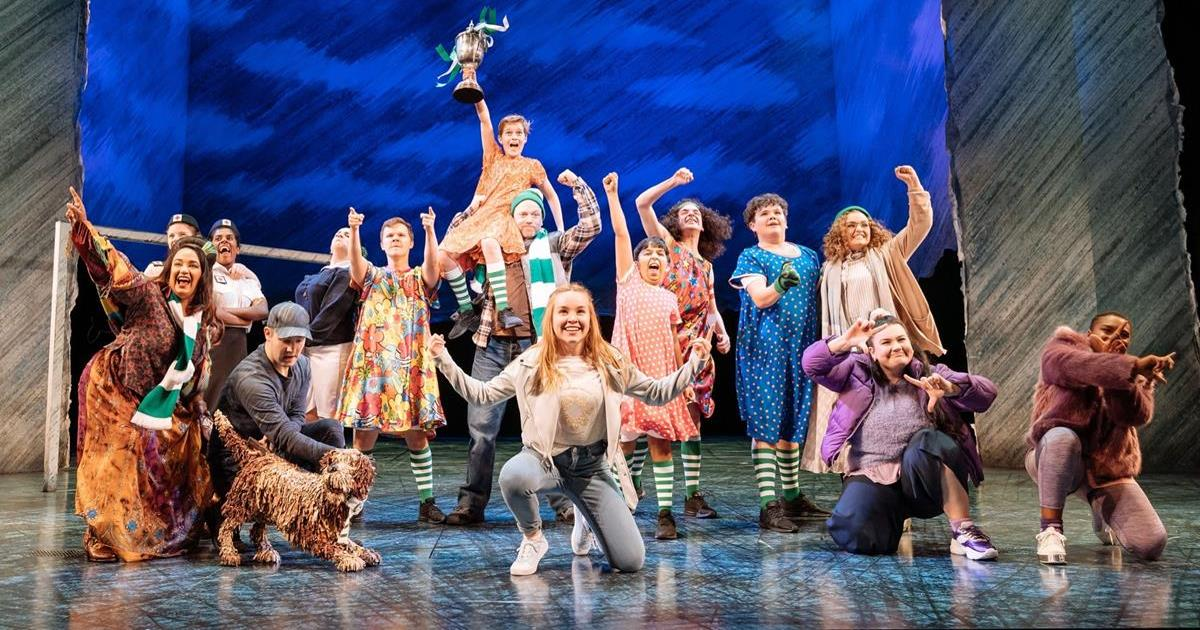 """The Royal Shakespeare Company cast from """"The Boy in the Dress,"""" a musical adapted from David Walliams' 2008 book."""