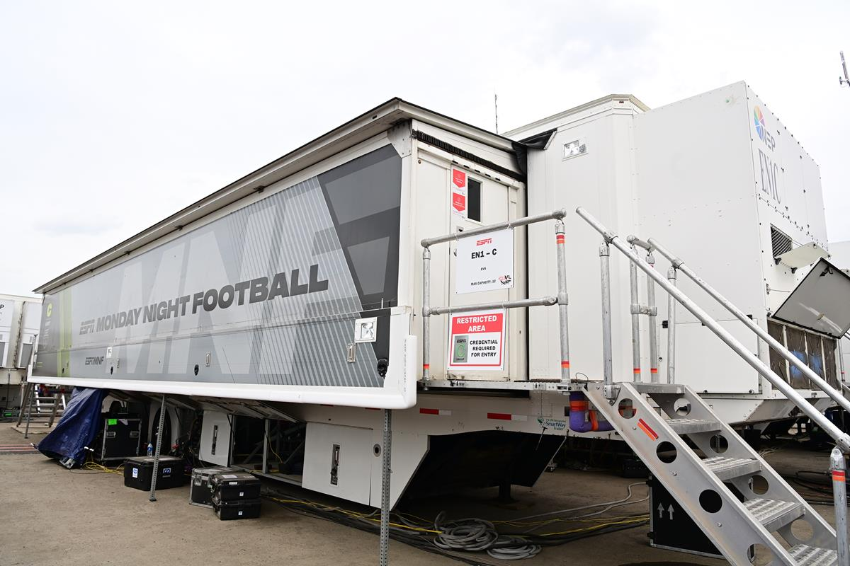 Production truck during the 2021 NFL Draft. Cr: Phil Ellsworth/ESPN Images
