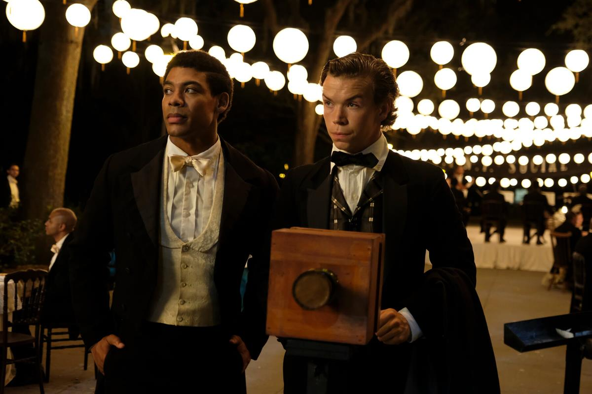 """Aaron Pierre as Caesar and Will Poulter as Sam in """"The Underground Railroad."""" Cr: Kyle Kaplan/Amazon Studios"""