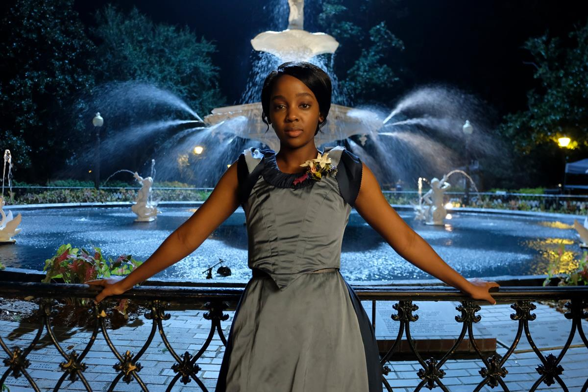 "Thuso Mbedu as Cora in ""The Underground Railroad."" Cr: Amazon Studios"