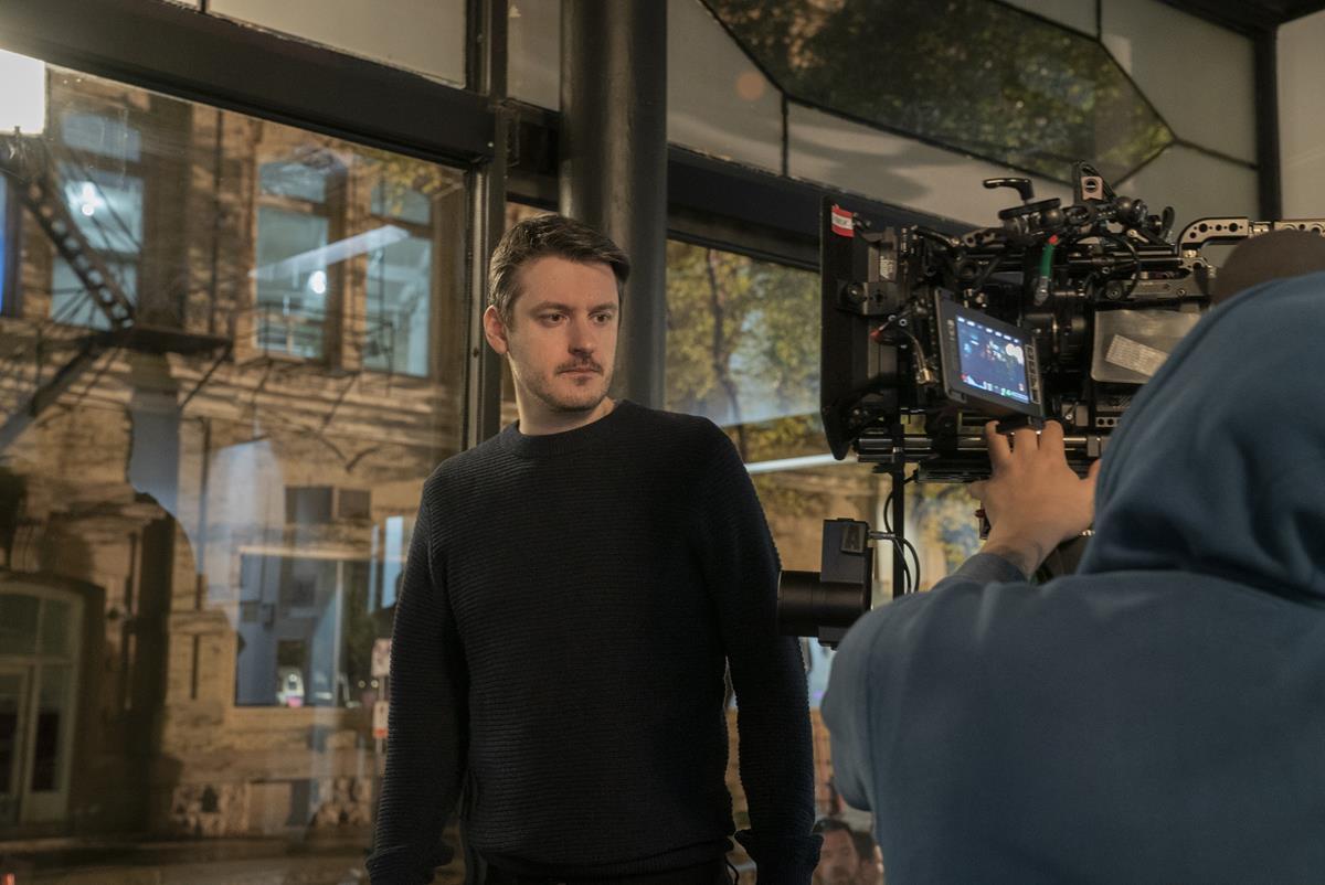 """Director Ilya Naishuller on the set of """"Nobody."""" Cr: Allen Fraser/Universal Pictures"""