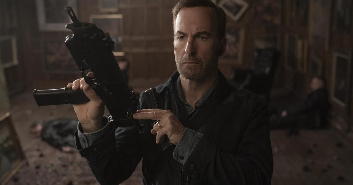"""Bob Odenkirk as Hutch Mansell in """"Nobody,"""" directed by Ilya Naishuller. Cr: Allen Fraser/Universal Pictures"""