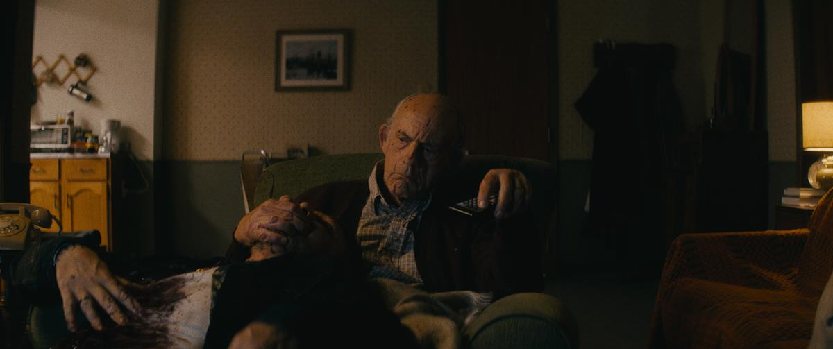 """Christopher Lloyd as David Mansell in """"Nobody,"""" directed by Ilya Naishuller. Cr: Allen Fraser/Universal Pictures"""