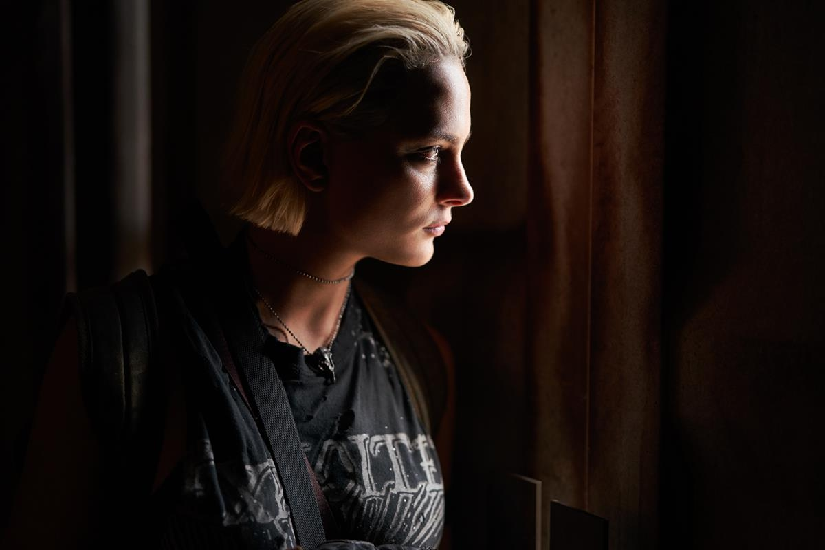 """Nora Arnezeder as Lilly """"The Coyote"""" in """"Army of the Dead,"""" written and directed by Zack Snyder. Cr: Clay Enos/Netflix"""