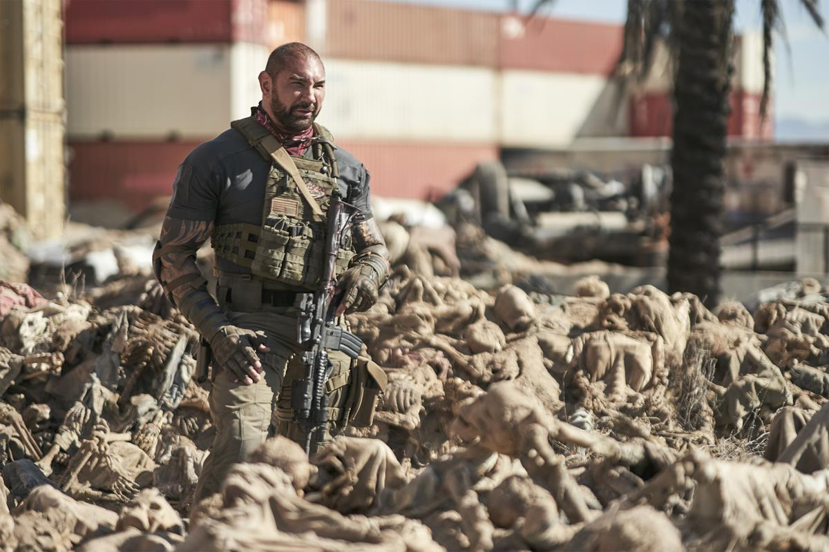 """Dave Bautista as Scott Ward in """"Army of the Dead,"""" written and directed by Zack Snyder. Cr: Clay Enos/Netflix"""