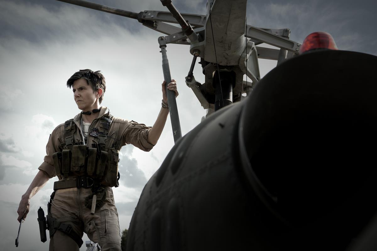 """Tig Notaro as Peters in """"Army of the Dead,"""" written and directed by Zack Snyder. Cr: Scott Garfield/Netflix"""