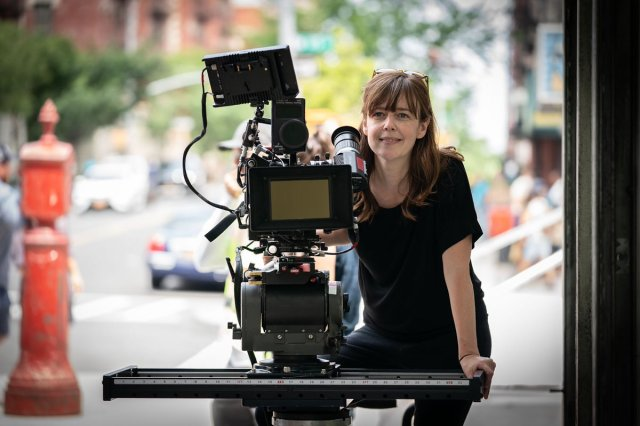 """Cinematographer Alice Brooks on the set of director Jon M. Chu's screen adaptation of """"In The Heights."""" Cr: Macall Polay/Warner Bros."""