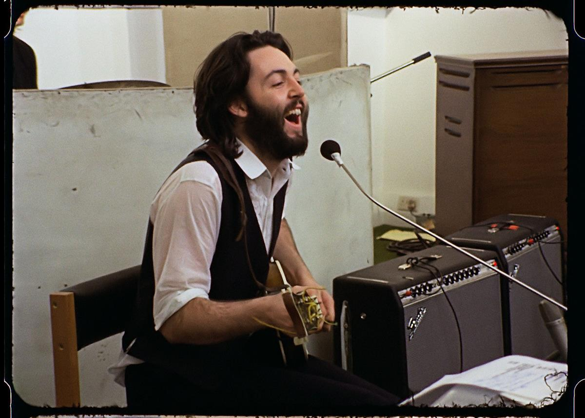 """Paul McCartney, who pushed for the original Let It Be documentary. """"The Beatles: Get Back."""" Cr: Apple Corps Ltd./Disney"""
