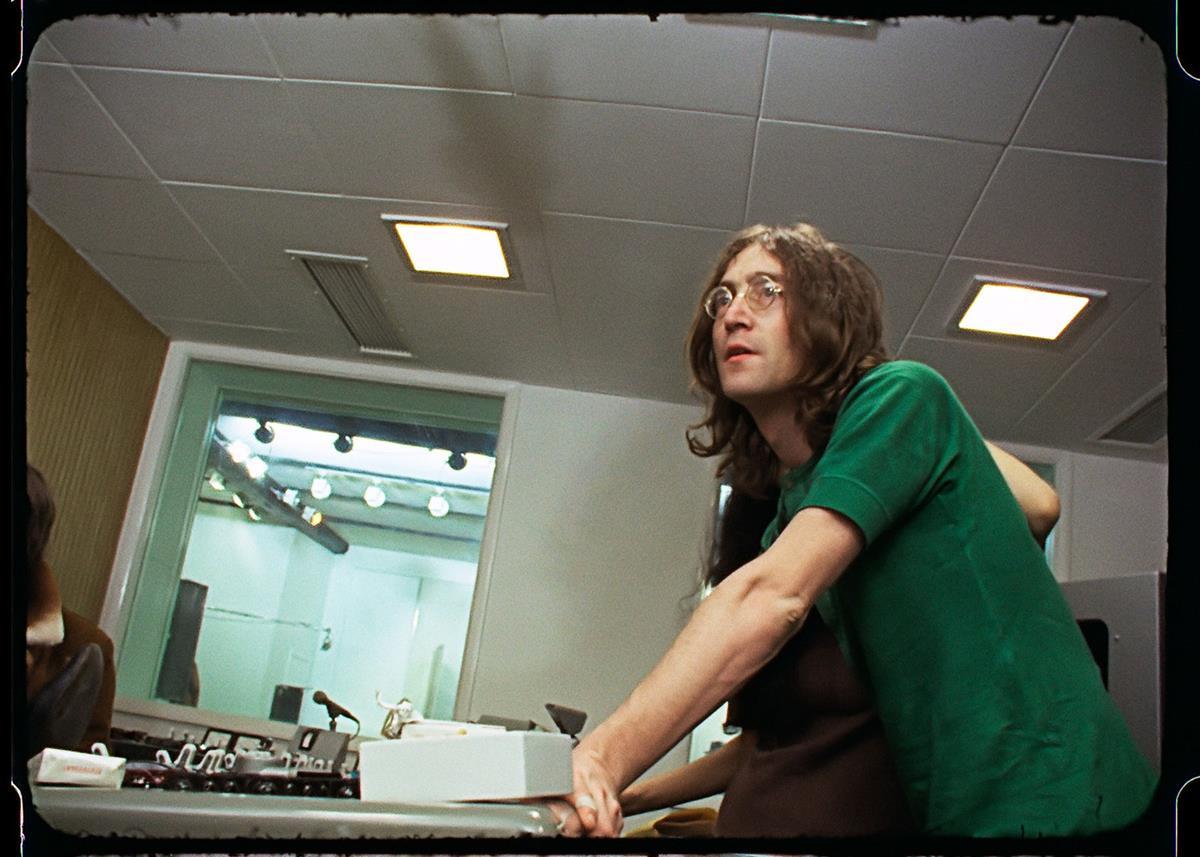 """John Lennon. """"The Beatles: Get Back."""" Cr: Apple Corps Ltd./Disney"""