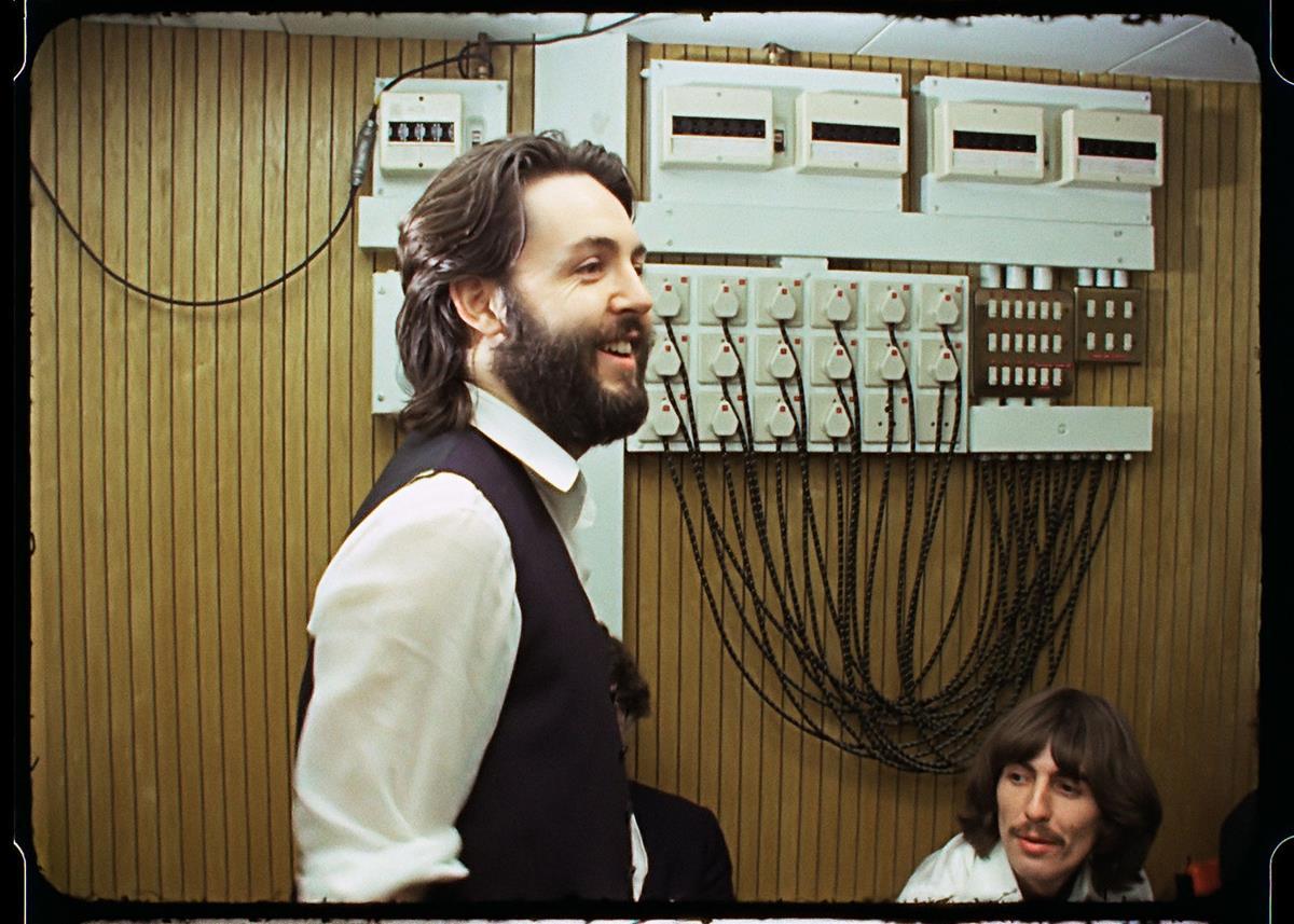 "Paul McCartney in the control room. ""The Beatles: Get Back."" Cr: Apple Corps Ltd./Disney"
