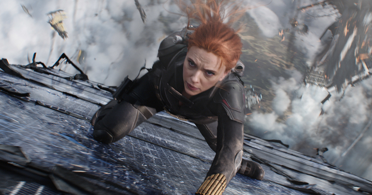 """Black Widow in Marvel Studios' """"Black Widow,"""" in theaters and on Disney+ with Premier Access. Photo courtesy of Marvel Studios."""