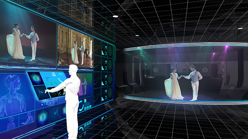 """The NHK Science & Technology Research Lab's """"Studio of the Future."""" Cr: NHK"""