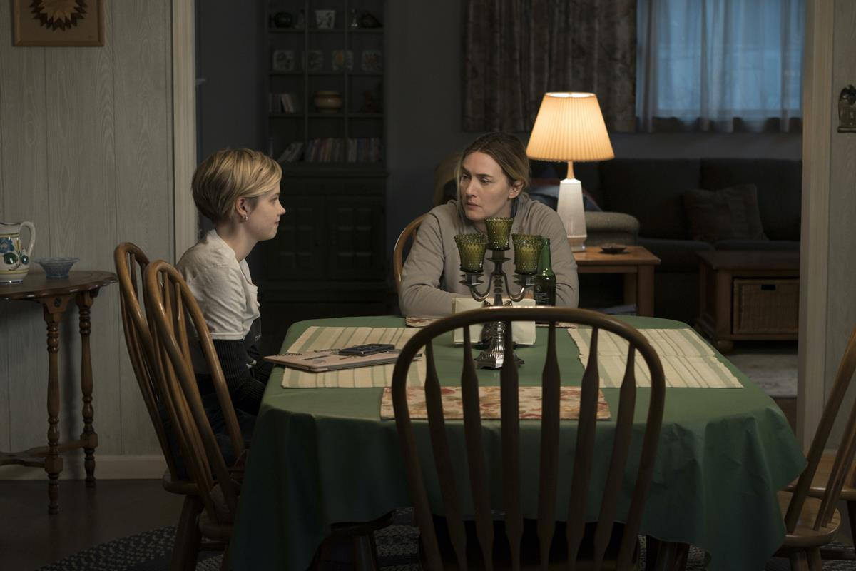 """Angourie Rice and Kate Winslet in """"Mare of Easttown."""" Cr: HBO"""