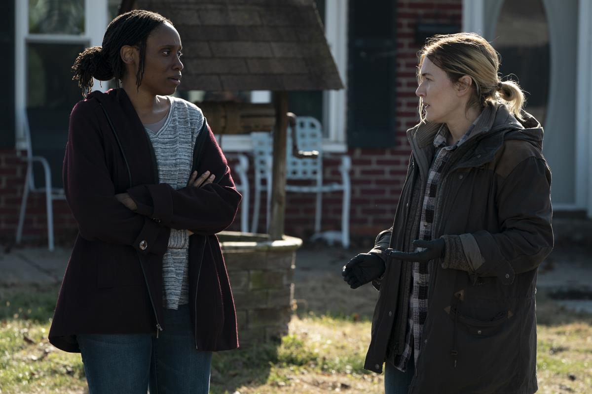 """Chinasa Ogbuagu and Kate Winslet in """"Mare of Easttown."""" Cr: HBO"""
