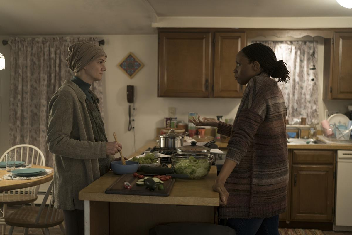 """Enid Graham and Chinasa Ogbuagu in """"Mare of Easttown."""" Cr: HBO"""