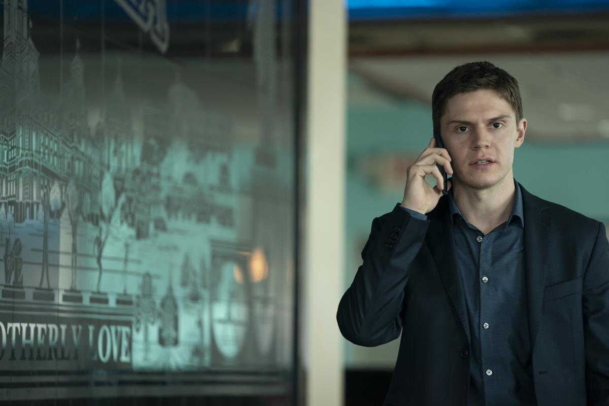 """Evan Peters in """"Mare of Easttown."""" Cr: HBO"""